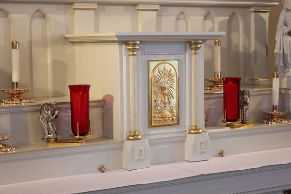 Tabernacle Door and Candle Stands
